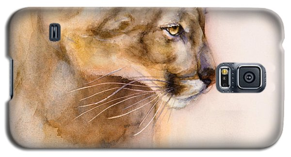 Galaxy S5 Case featuring the painting Cougar On The Prowl by Bonnie Rinier