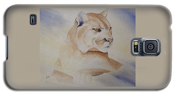 Cougar On Watch Galaxy S5 Case by Richard Faulkner