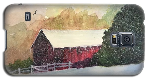 Galaxy S5 Case featuring the painting Country Barn by Lucia Grilletto