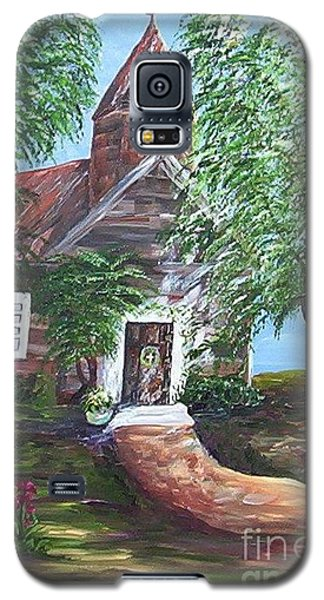 Galaxy S5 Case featuring the painting Country Church by Eloise Schneider