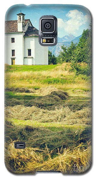 Galaxy S5 Case featuring the photograph Country Church With Hay by Silvia Ganora