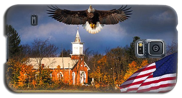 country Eagle Church Flag Patriotic Galaxy S5 Case