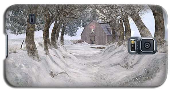 Country Lane In Winter Galaxy S5 Case by Kylie Sabra