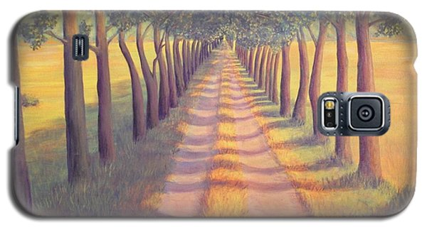 Galaxy S5 Case featuring the painting Country Lane by Sophia Schmierer