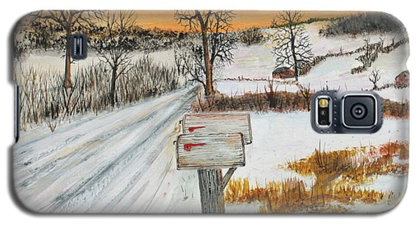 Galaxy S5 Case featuring the painting Country Road Memories by Jack G  Brauer