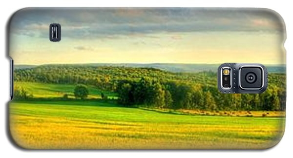 Galaxy S5 Case featuring the photograph Country Road Panorama by Ed Roberts
