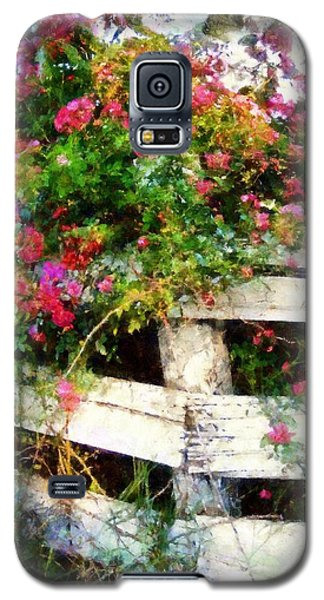 Country Rose On A Fence 3 Galaxy S5 Case