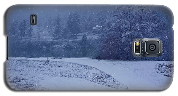 Galaxy S5 Case featuring the photograph Country Snowstorm Landscape Art Prints by Valerie Garner