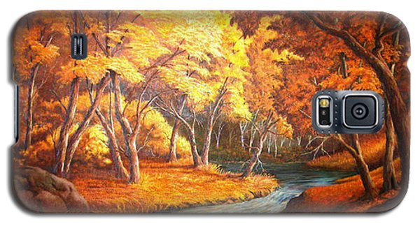 Country Stream In The Fall Galaxy S5 Case
