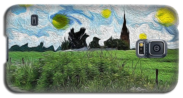 Galaxy S5 Case featuring the digital art Countryside Impressioniism by Mary M Collins