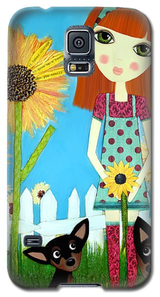 Galaxy S5 Case featuring the painting Courage 2 by Laura Bell