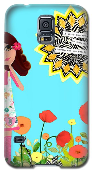 Galaxy S5 Case featuring the painting Courage by Laura Bell