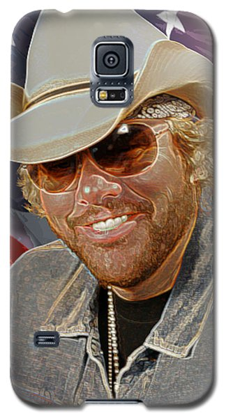 Galaxy S5 Case featuring the photograph Courtesy Of The Red White And Blue  Toby Keith by Don Olea