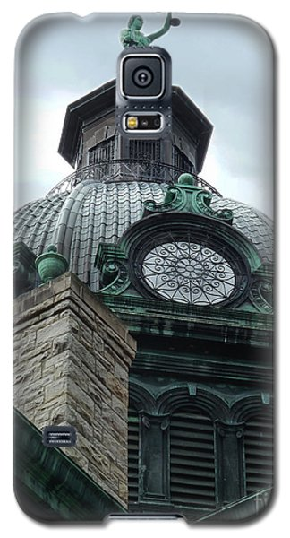 Courthouse Dome In Binghamton Ny Galaxy S5 Case by Sally Simon