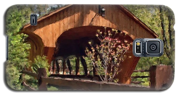 Covered Bridge At Olmsted Falls-spring Galaxy S5 Case