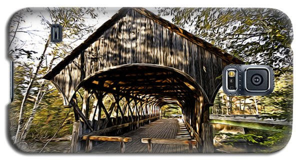 Galaxy S5 Case featuring the photograph Covered Bridge by Bill Howard