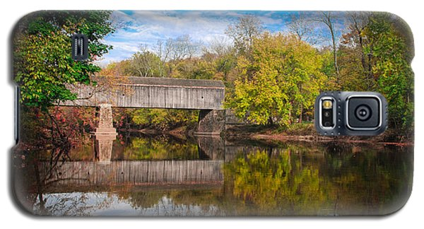 Galaxy S5 Case featuring the photograph Covered Bridge In Autumn by Phil Abrams