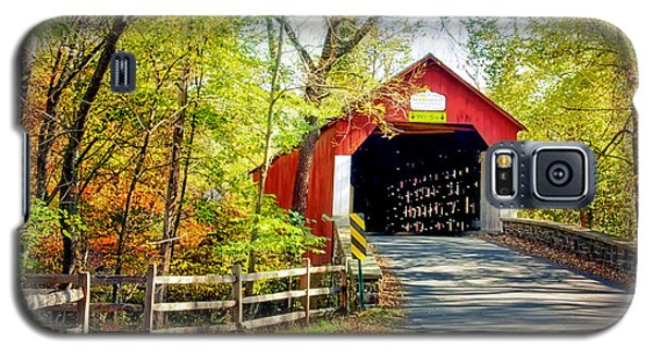 Covered Bridge In Bucks County Galaxy S5 Case