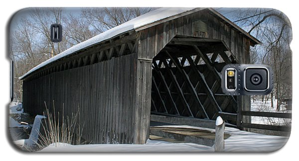 Covered Bridge In Winter Galaxy S5 Case