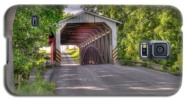 Galaxy S5 Case featuring the photograph Covered Bridge by Jim Thompson