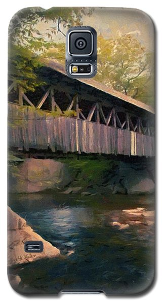 Galaxy S5 Case featuring the painting Covered Bridge by Jeff Kolker