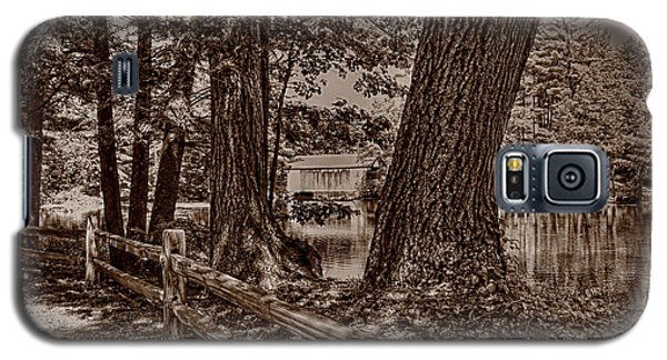 Galaxy S5 Case featuring the photograph Covered Bridge by Nigel Fletcher-Jones