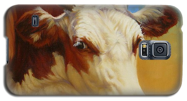 Cow Face Galaxy S5 Case by Margaret Stockdale