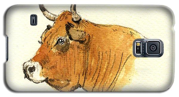 Bull Galaxy S5 Case - Cow Head Study by Juan  Bosco