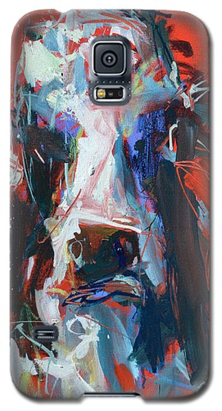 Cow On Red Galaxy S5 Case