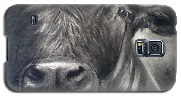 Galaxy S5 Case featuring the drawing Cow View by J L Zarek