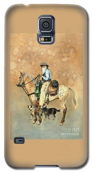 Cowboy And Appaloosa Galaxy S5 Case