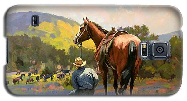 Cowboy And His Cows Galaxy S5 Case