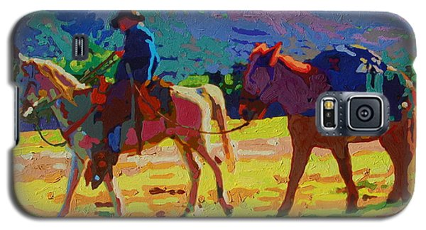 Cowboy And Pack Mule 2 Galaxy S5 Case