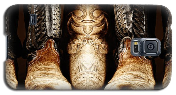 Galaxy S5 Case featuring the photograph Cowboy Boots Composite by Lincoln Rogers