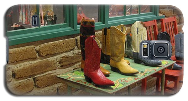 Galaxy S5 Case featuring the photograph Cowboy Boots by Dora Sofia Caputo Photographic Art and Design