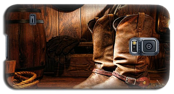 Cowboy Boots In A Ranch Barn Galaxy S5 Case