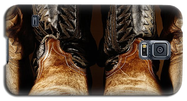 Cowboy Boots In High Contrast Light Galaxy S5 Case