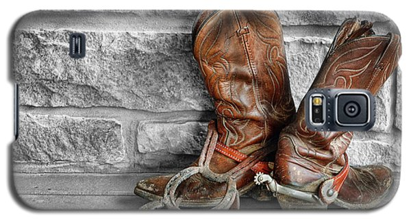Galaxy S5 Case featuring the photograph Cowboy Boots by Sami Martin