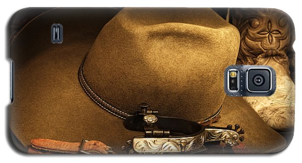 Galaxy S5 Case featuring the photograph Cowboy Gear by Lincoln Rogers