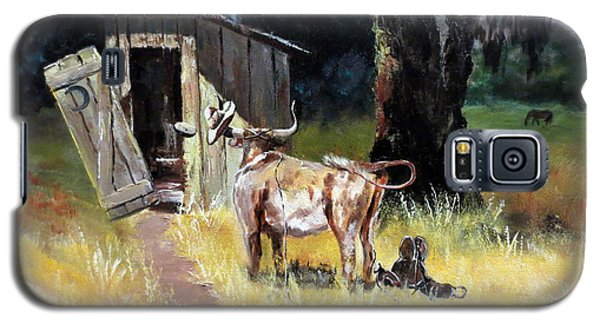 Cowboy On The Outhouse  Galaxy S5 Case