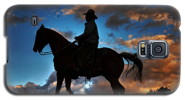 Galaxy S5 Case featuring the photograph Cowboy Silhouette by Ken Smith