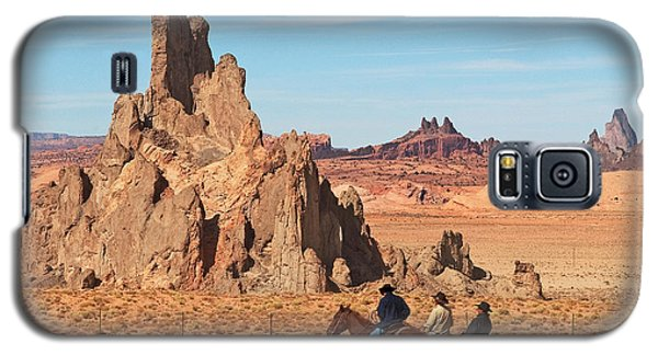 Galaxy S5 Case featuring the photograph Cowboys by Bob and Nancy Kendrick