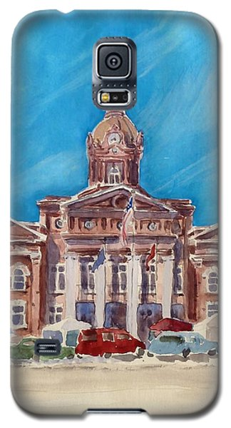 Coweta County Courthouse Painting Galaxy S5 Case by Sally Simon
