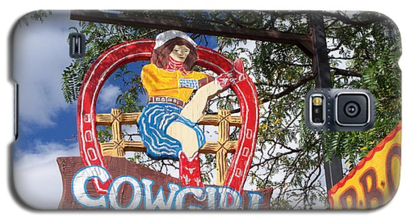 Galaxy S5 Case featuring the photograph Cowgirl Cafe by Sylvia Thornton
