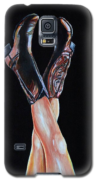 Galaxy S5 Case featuring the painting Cowgirl Legs by Jennifer Godshalk