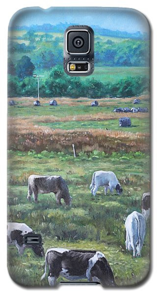 Cows In A Field In The Devon Countryside Galaxy S5 Case