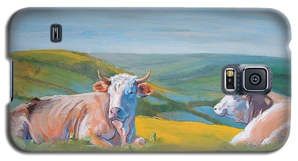 Cows Lying Down Painting Galaxy S5 Case