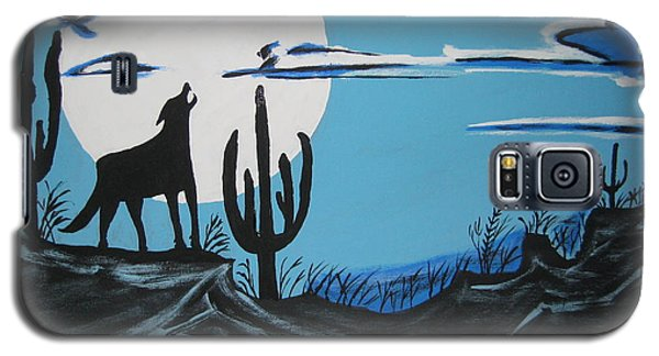 Galaxy S5 Case featuring the painting Coyote by Jeffrey Koss