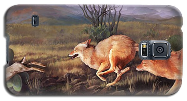 Galaxy S5 Case featuring the painting Coyote Run by Rob Corsetti
