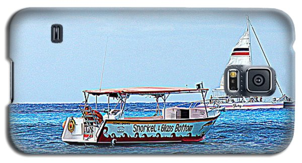 Galaxy S5 Case featuring the photograph Cozumel Excursion Boats by Debra Martz